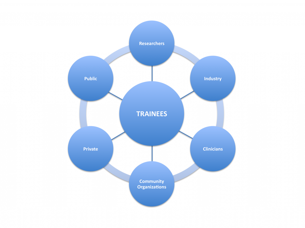 Trainee connections with stakeholders.