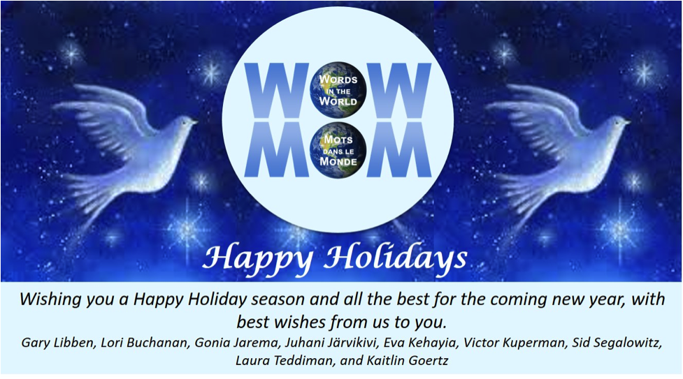 Holiday card from Words in the World